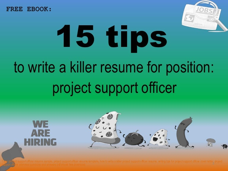 project support officer resume sample pdf ebook free download