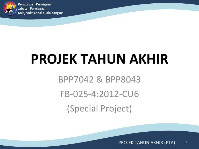 Projek Tahun Akhir Pta Ppn Kvkk