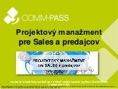 Projektový manažment pre Sales a predajcov - intro