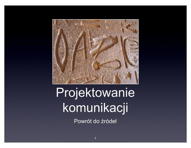 """Eryk Orłowski """"Projektowanie komunikacji: powrót do źródeł"""""""