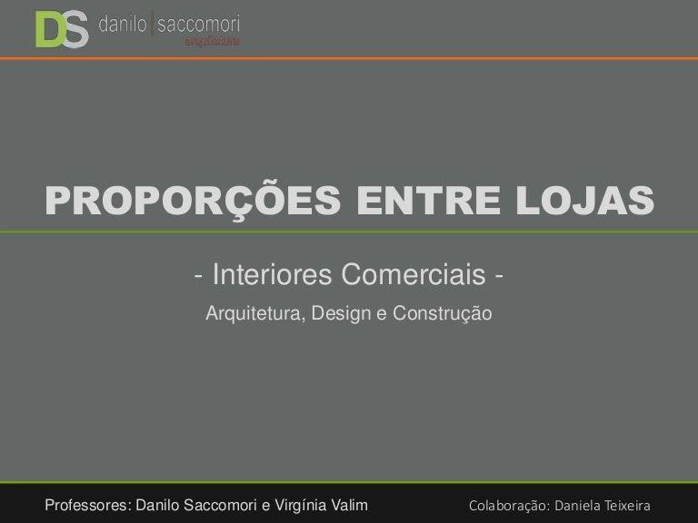 4a30ead893 Projeto de Interiores Comerciais - Proporções entre Lojas