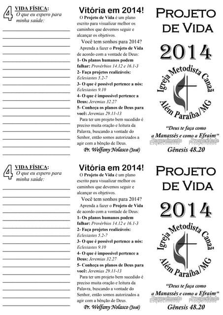 Projeto de vida 2014