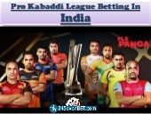 Pro Kabaddi League Betting in India | Place Free Bet and Win Rewards