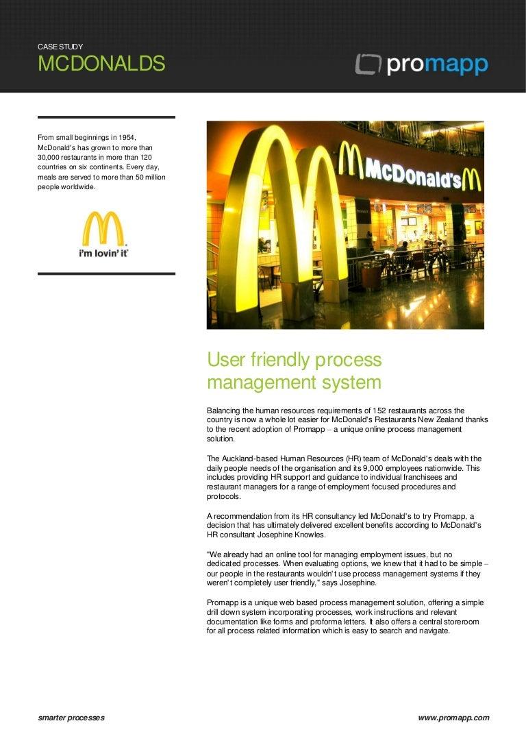 Promapp Case Study McDonalds