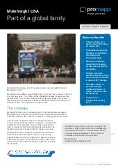 Promapp Mainfreight USA Case Study