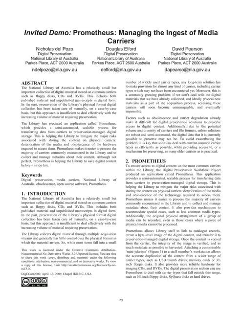 Prometeus description