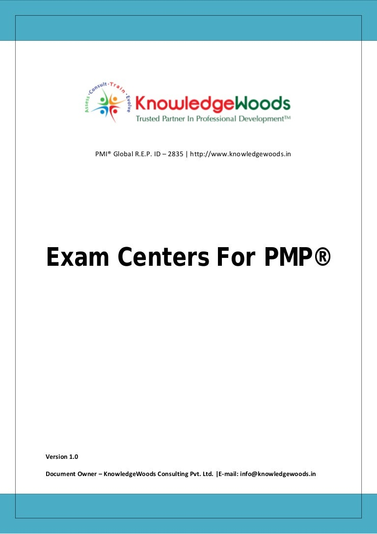 Pmp certification exam centers in india 1betcityfo Gallery
