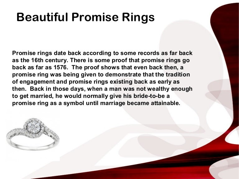 Summary What Is A Promise Ring The Real Meaning