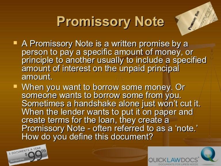 Online Promissory Note