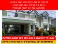 governor's hills subd house and lot rush rush for sale, rfO Available, Re-sale, Foreclosed available