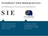 Promomasters Online Marketing ✩ Unternehmenspräsentation