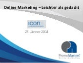 PromoMasters Online Marketing Vortrag vom 27.01.2014