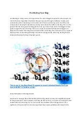 Pro moting your blog