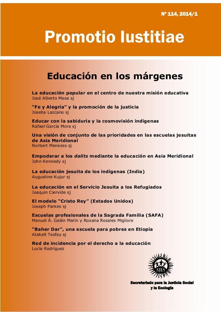 Promotio Iustitiae #114 - Educación en los márgenes