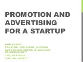 Promotion and Advertising for a Start-Up