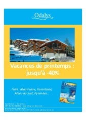 Promotions Vacances De Printemps 2010