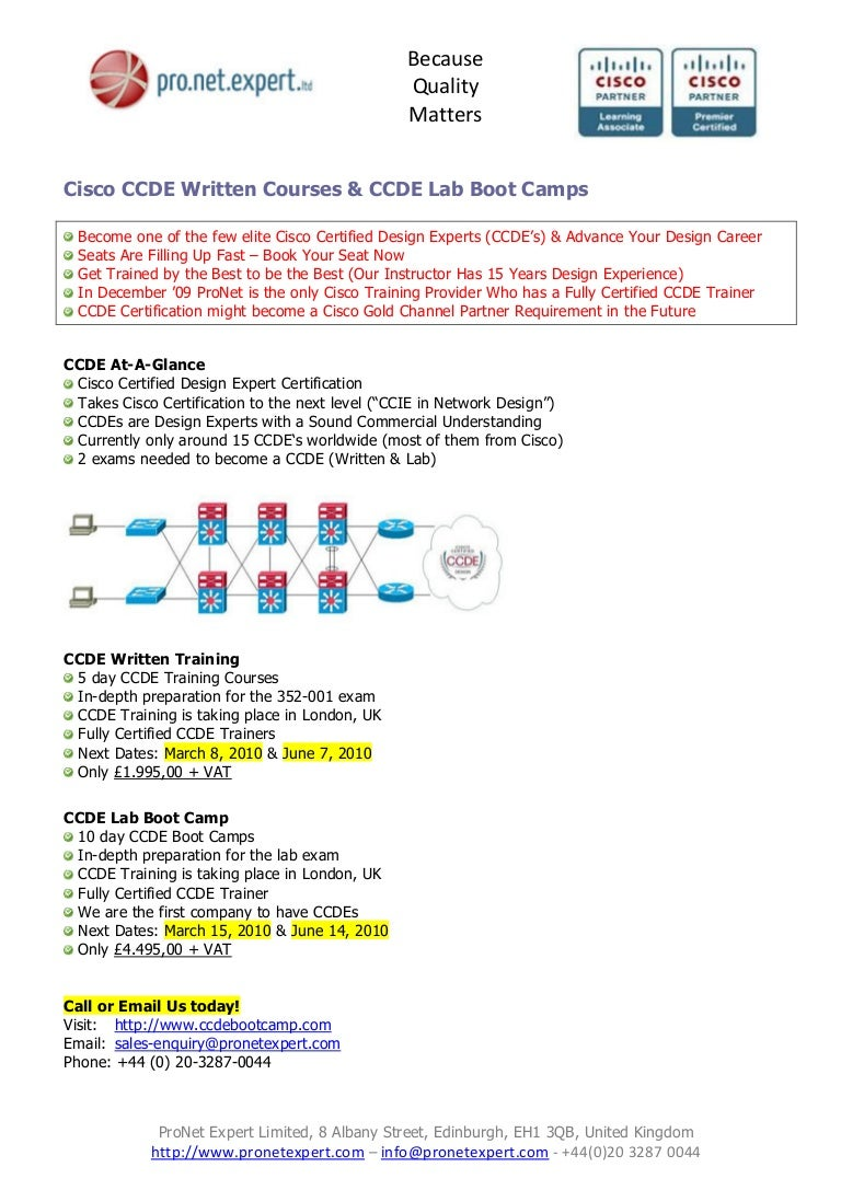 Pronetexpert cisco ccde bootcamp training courses 1betcityfo Images
