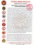 Pronunciamiento Central Obrera Boliviana