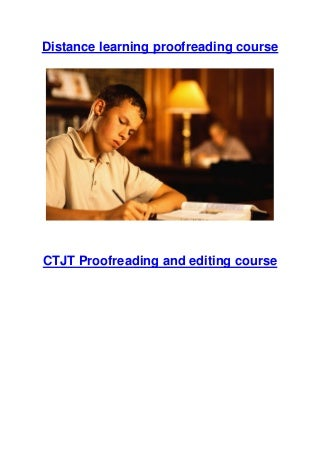 Become a proofreader