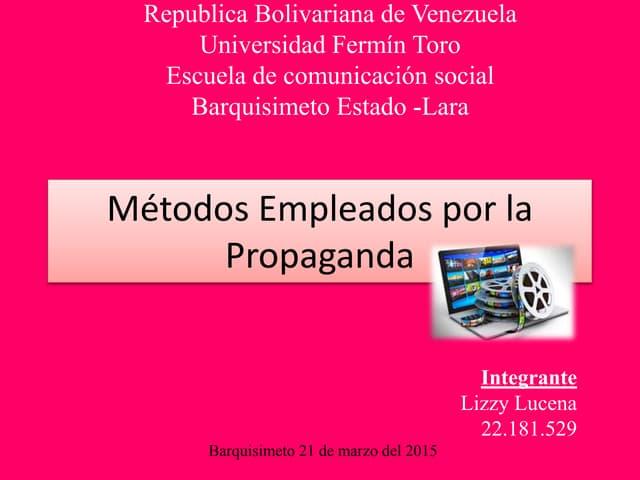 Propaganda metodos