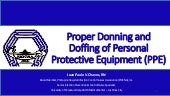 Proper Donning and Doffing of PPE