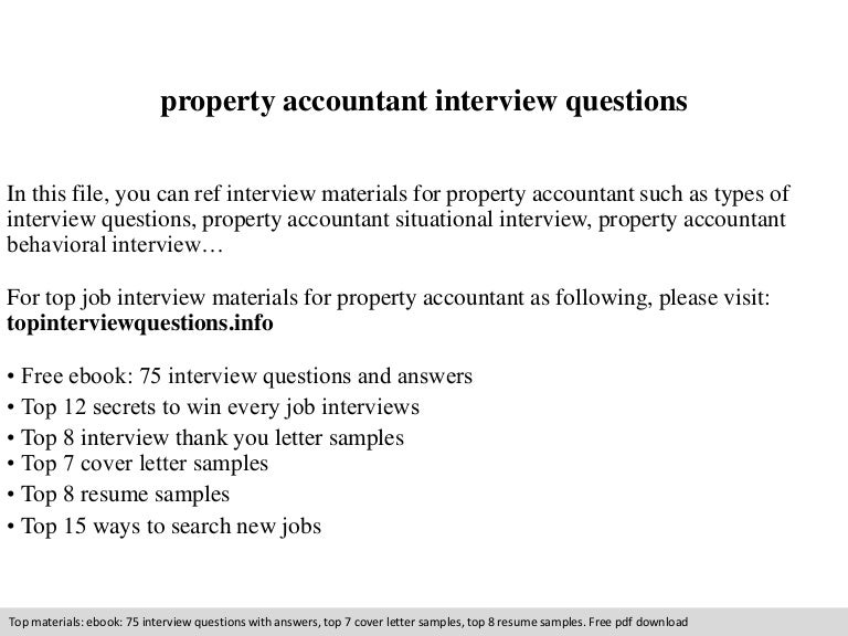 SlideShare  Property Accountant Resume
