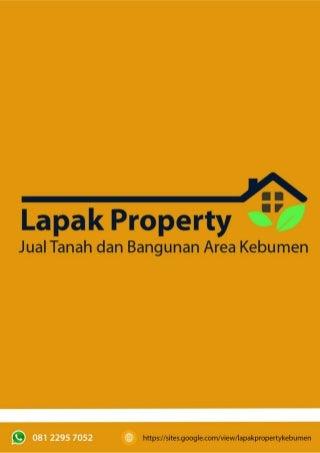 Di Jual Tanah dan Bangunan Kebumen, Tanah dan Bangunan Kebumen, Property Kebumen - Lapak Property