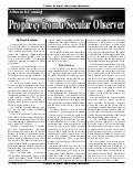 Prophecy From A Secular Observer  -  Prophecy In The News Magazine -  January 2009