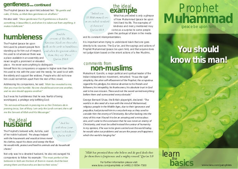 Prophet Muhammad Peace Be Upon Him You Should Know This Man Pam