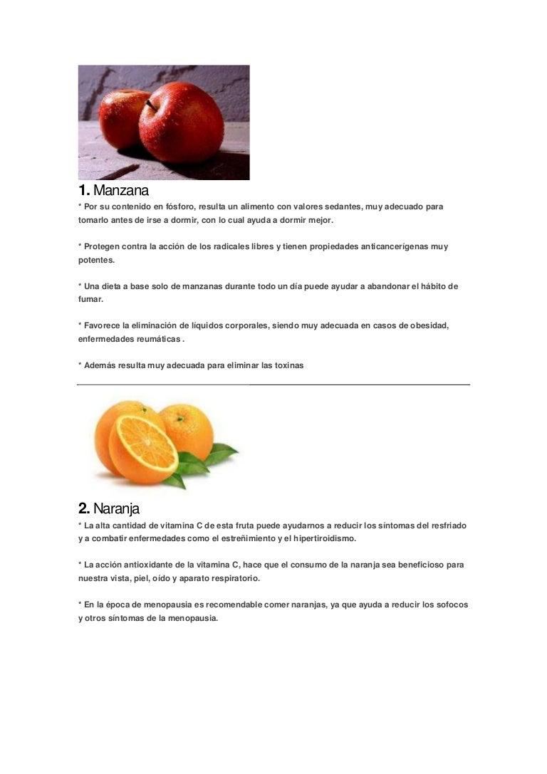 beneficios vitaminas frutas