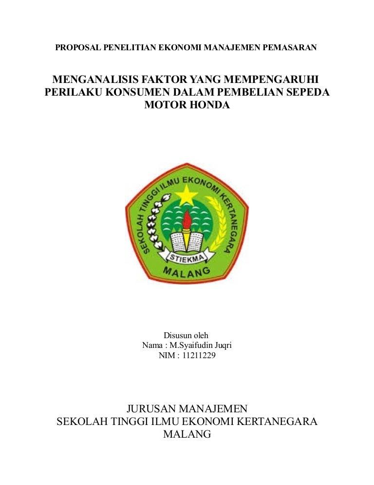 Proposal Penelitian Ekonomi Pdf