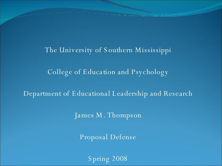 Developing and defending a dissertation proposal