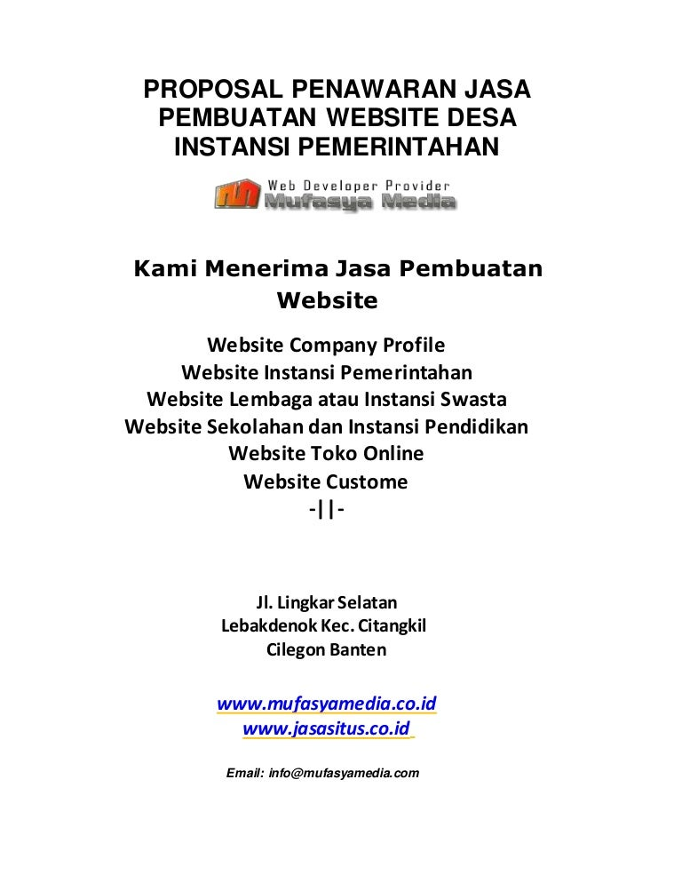 Proposal Jasa Pembuatan Website Desa