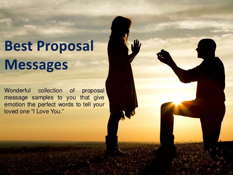 Best Love Proposal Messages