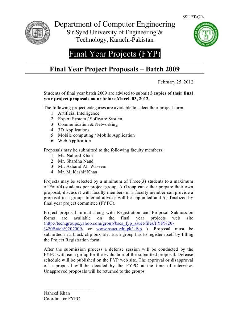 Proposal announcement batch2009