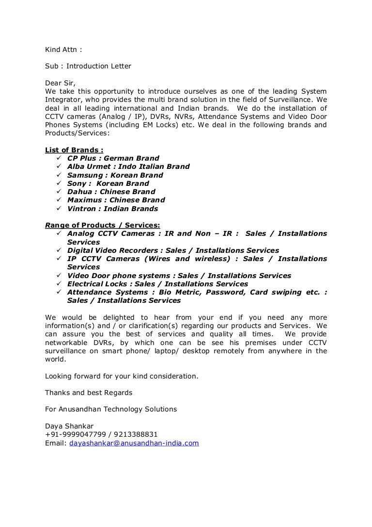 Proposal for cctv cameras