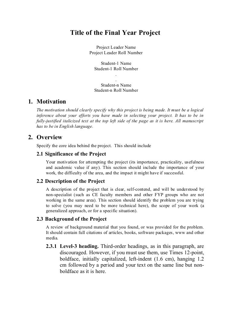 Doc7281031 Formal Proposal Example proposal template 95 – Formal Proposal Example