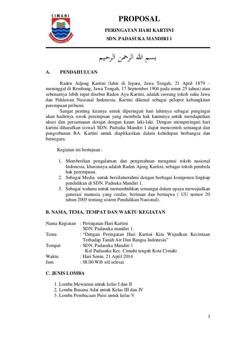 Proposal Hari Kartini 2014