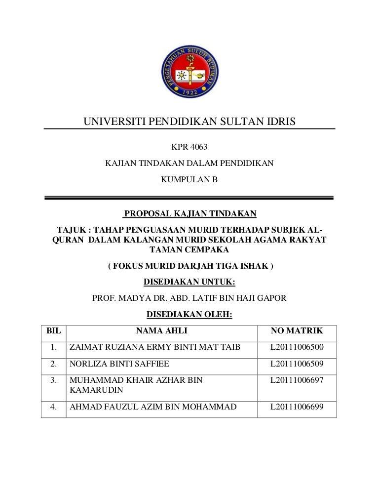 Proposal Tesis Kualitatif Manajemen Pendidikan