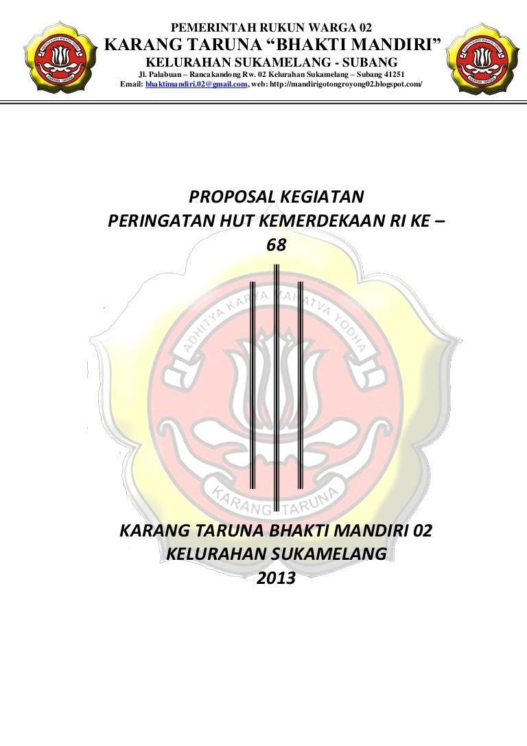 Contoh Proposal Karang Taruna Pengajuan Dana 17 Agustus Pdf Berbagi Contoh Proposal