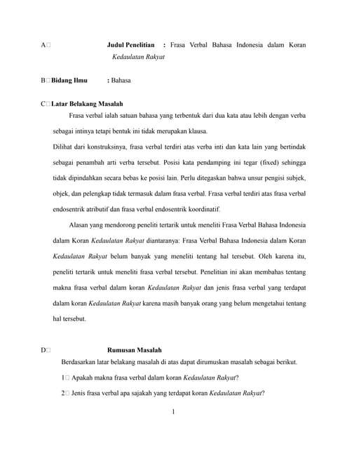 Proposal Linguistik