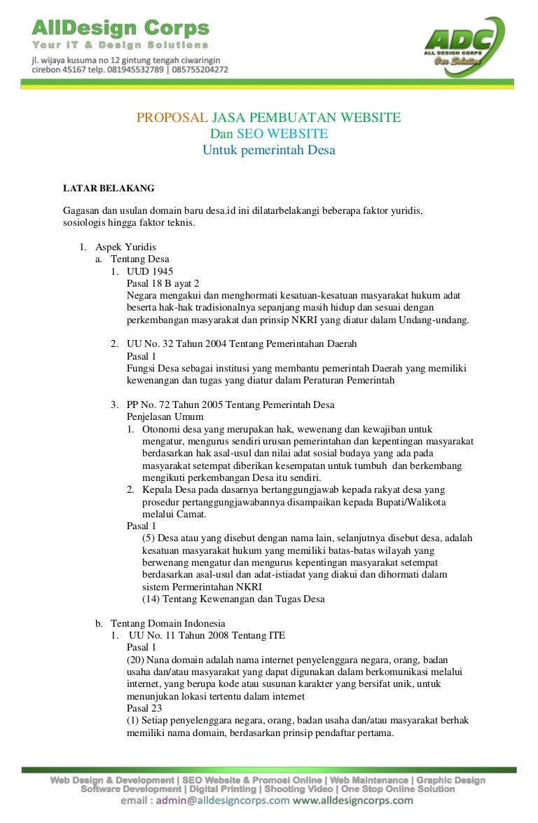 Contoh Surat Penawaran Jasa Hukum