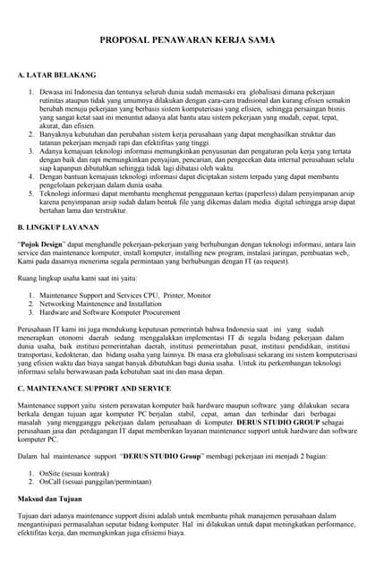 Contoh Proposal Penawaran Original