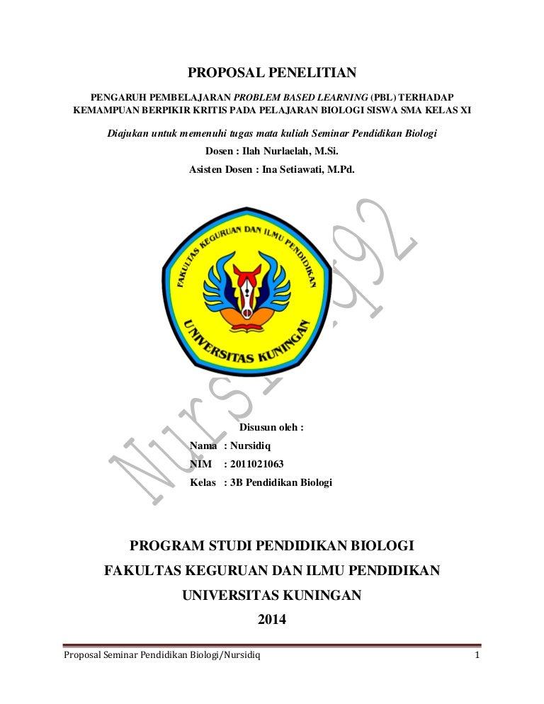 Jurnal Proposal Seminar Pend Biologi