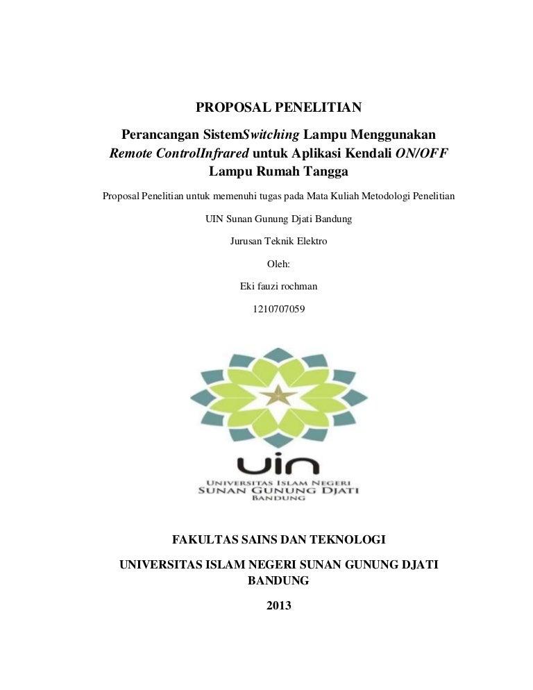 Contoh Cover Proposal Skripsi Uin Bandung Pejuang Skripsi