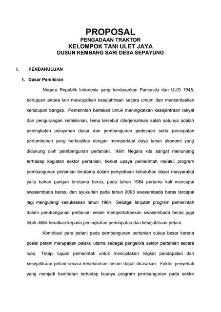 Proposal Metil1tititn