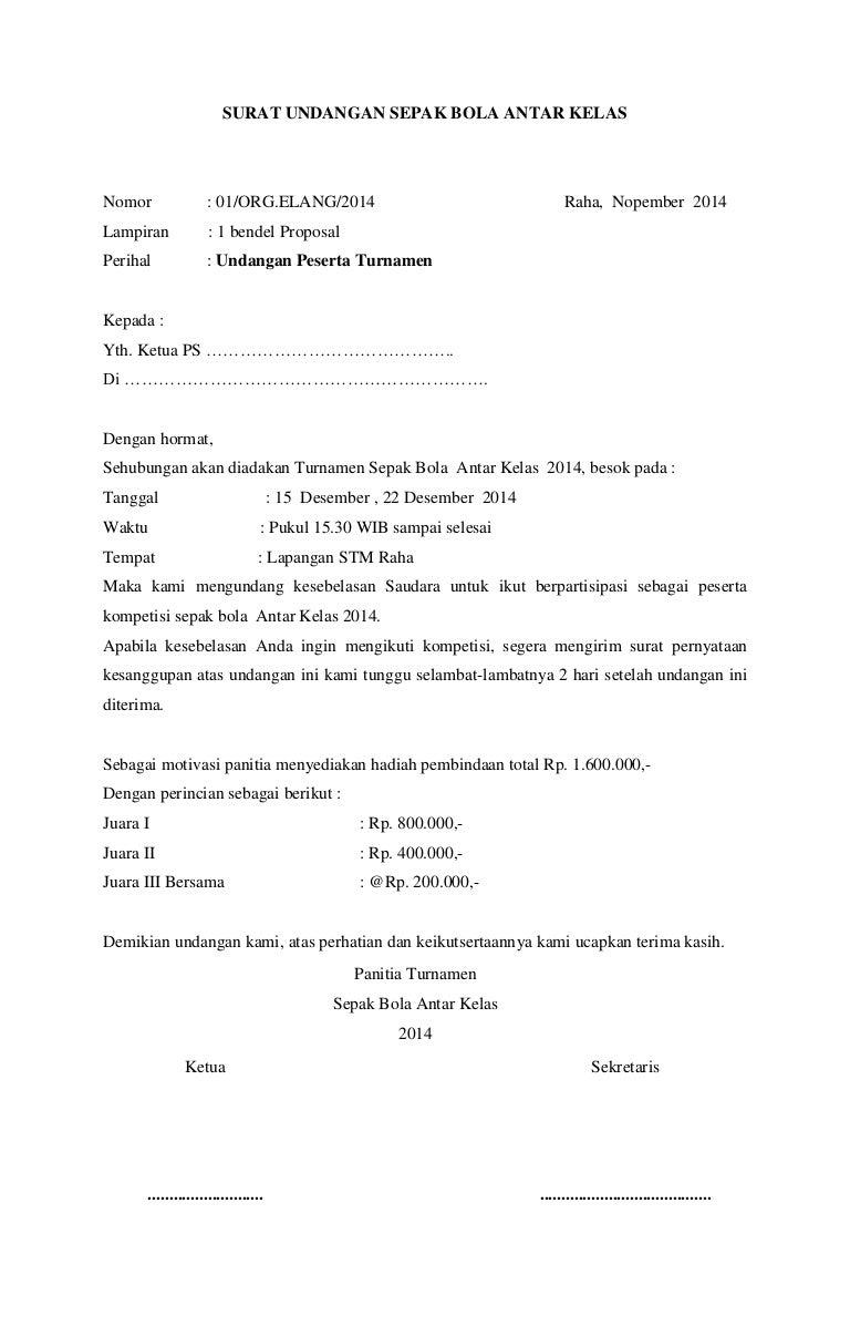 Contoh Proposal Pertandingan Sepak Bola Antar Desa Temukan Contoh