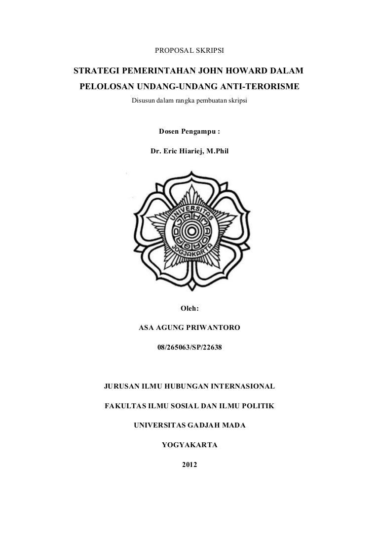 Proposal Skripsi Strategi Pemerintahan John Howard Dalam Pelolosan