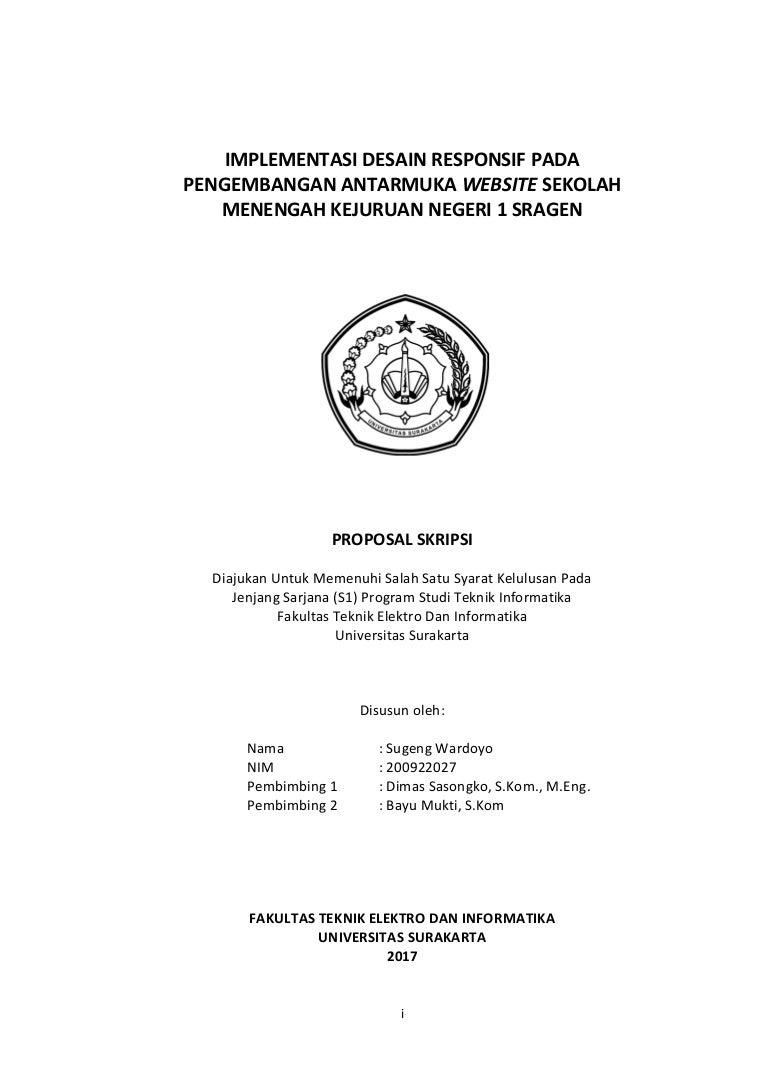 Proposal Skripsi Sugeng