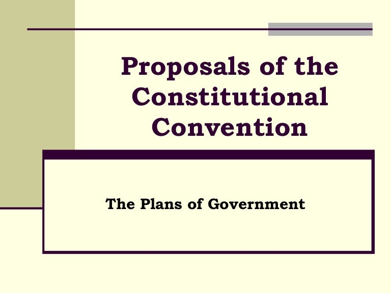Proposals Of The Constitutional Convention – Constitutional Convention Worksheet